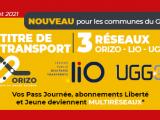 1 titre - 3 réseaux de transport !